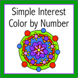Simple Interest Color by Number (Distance Learning)