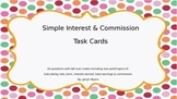 Simple Interest & Commission Task Cards with QR Codes