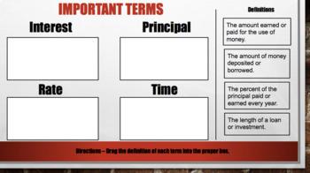Simple Interest – Digital Interactive Notebook for Google Classroom