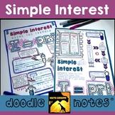 Simple Interest Doodle Notes