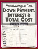 Simple Interest, Down Payment & Total Cost when Purchasing a Car.