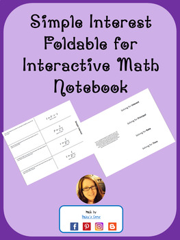 Simple Interest Foldable