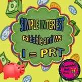 Simple Interest Foldable and Worksheet