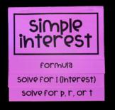Simple Interest (Foldable)