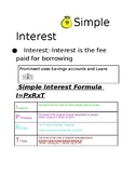 Simple Interest Guided Notes