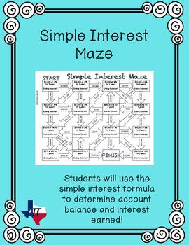 Simple Interest Maze