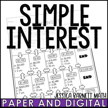 Simple Interest Maze Activity