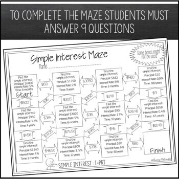 Simple Interest Maze ~ Beginner