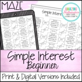 Simple Interest Maze ~ Beginner Worksheet