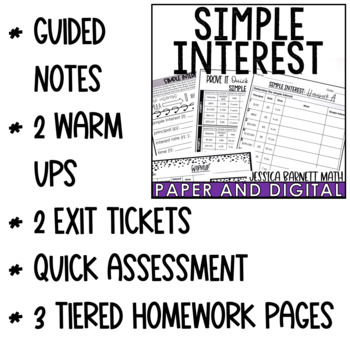 Simple Interest Lesson Bundle