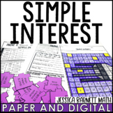 Simple Interest Lesson Bundle | Distance Learning | Digital and Print