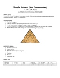 Simple Interest (Not Compounded) Game Puzzle with Worksheet