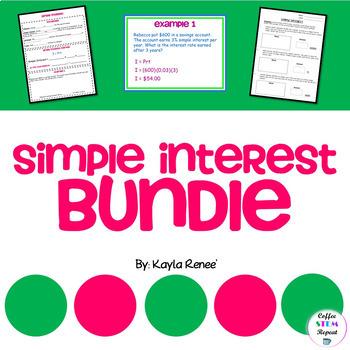 Simple Interest Bundle: 7.RP.3