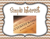 Simple Interest: Principal Rate and Time PPT and Guided Wo