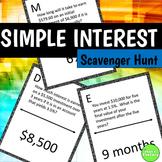 Simple Interest Scavenger Hunt