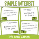 Simple Interest- Set of 28 Task Cards