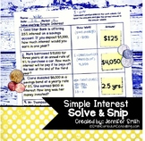 Simple Interest Word Problems | Solve and Snip® | Math Station