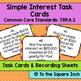 Simple Interest Task Cards