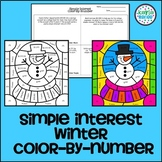 Christmas Math Coloring (Simple Interest)