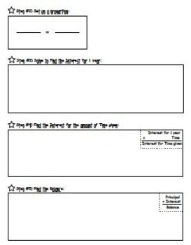 Simple Interest Worksheet (Guided Notes)
