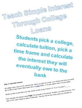 Simple Interest with College Loans