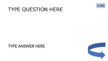Simple Jeopardy Template