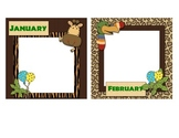 Simple Jungle Themed Birthday Bulletin Board Set