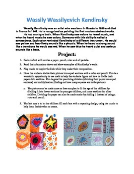Simple Kandinsky Art Project in One Page