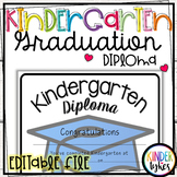Simple Kindergarten Graduation Diploma with EDITABLE file