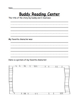 Simple Kindergarten Literacy Centers/Stations for all Year