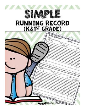 Simple Kindergarten & 1st Grade Running Record