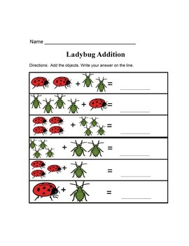 Simple Ladybug Worksheets