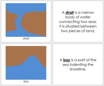 Simple Land and Water Forms Book (blue/brown)