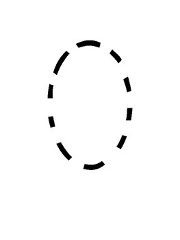 Simple Large Font Tracing Numbers 0 - 10 (no border) for Visually Impaired
