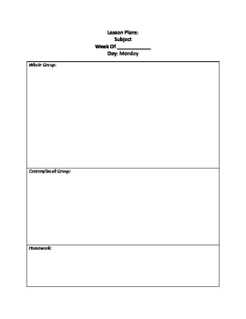 Simple Lesson Plan Format By Samantha Holisky  Teachers. Best Free Invoice Template Mac. Training Schedule Template Excel. Contact List Template Excel. Cute Poster Ideas. High School Graduation Decorations. Cool Plain Backgrounds. First Day Of 3rd Grade Sign. Custom Posters Online