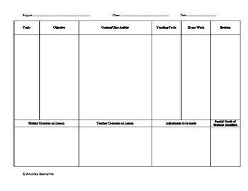 Simple Lesson Plan Overview