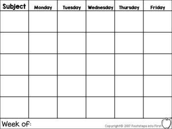 Simple Lesson Planner