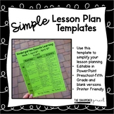 Simple Lesson Plans {Distance Learning}