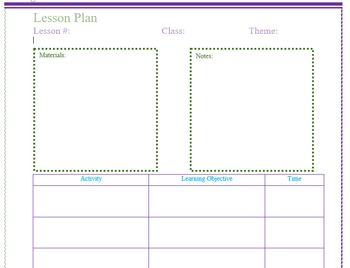 Simple Lesson Template