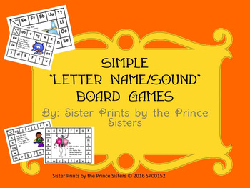 "Simple ""Letter Name/Sound"" Board Games"