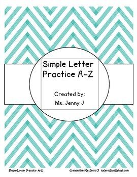 Simple Letter Practice A-Z