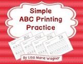 Simple ABC Printing Practice