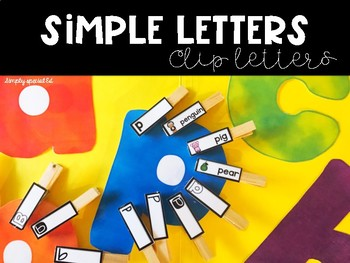 Simple Letters Clip Letters for Special Education