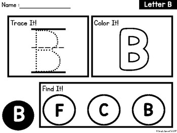 Simple Letters: Worksheets for Special Education