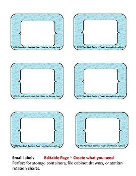 Simple Literacy Station Labels
