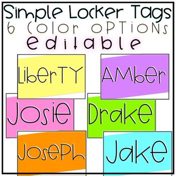 Simple Locker Tags {Editable}