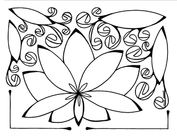 Simple Lotus Coloring page summer