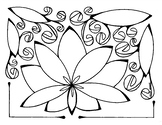 Simple Lotus Coloring page summer. Things I Love (write on