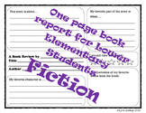 Simple Lower Elementary Book Report