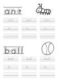 Simple Lowercase Letter Printing Practice